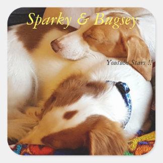 Sparky & Bugsie Sticker!! Square Sticker