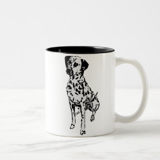 Sparky Dalmatian Dog Two-Tone Coffee Mug