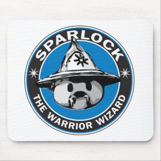 Sparlock the Warrior Wizard Mouse Pad