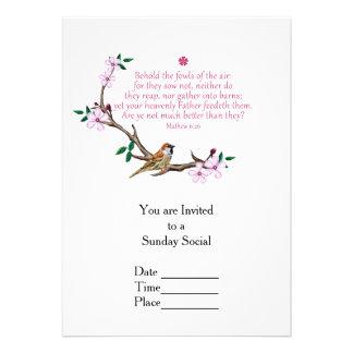 Sparrow 13 Cm X 18 Cm Invitation Card