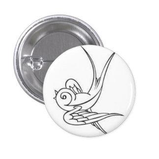 sparrow 3 cm round badge