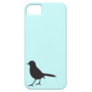 Sparrow bird black & white silhouette blue iPhone 5 cover