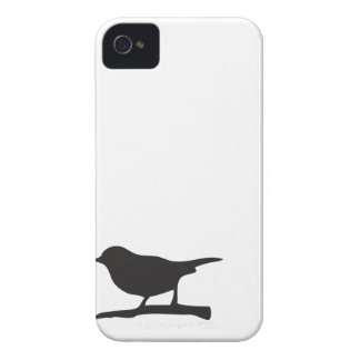Sparrow bird branch black & white silhouette case Case-Mate iPhone 4 case