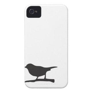 Sparrow bird branch black & white silhouette case Case-Mate iPhone 4 case