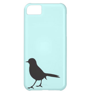 Sparrow bird silhouette black blue case cover for iPhone 5C