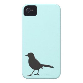 Sparrow bird silhouette black blue case