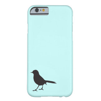 Sparrow black bird silhouette blue vintage rustic barely there iPhone 6 case