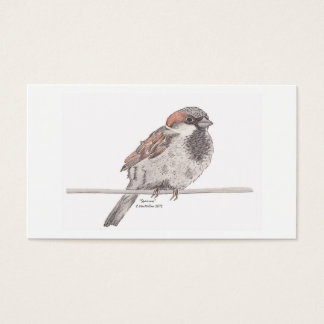 Sparrow Bookmark Business Card