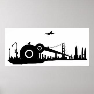 Sparrow city plane poster - Colossal