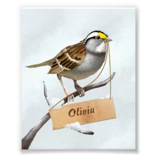 Sparrow Illustration Photo Print