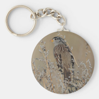 Sparrow in the Grass Keychain