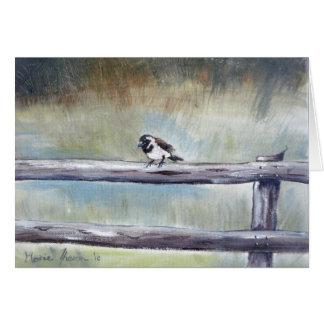 Sparrow in the Mist Card