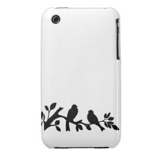 Sparrow love birds silhouette bird lovebird iPhone 3 Case-Mate cases
