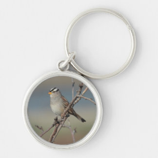 Sparrow on a Branch Keychain