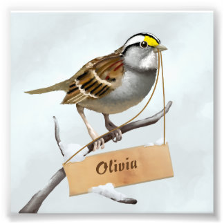 Sparrow Photo Print
