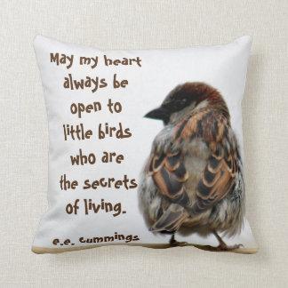 Sparrow photography cushion