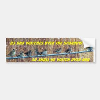 Sparrow scripture bumper sticker