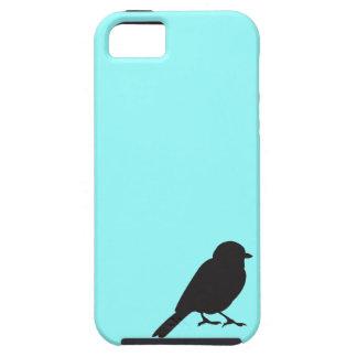 Sparrow silhouette blue iPhone 5S case iPhone 5 Case