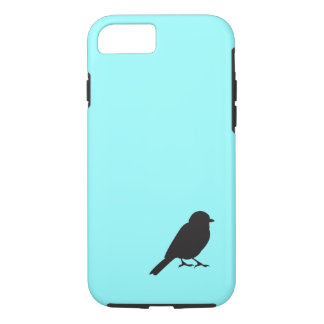 Sparrow silhouette blue iPhone 7 case