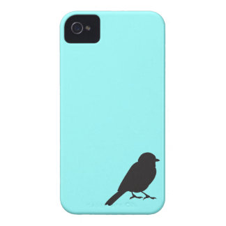 Sparrow silhouette chic blue swallow bird iPhone 4 covers