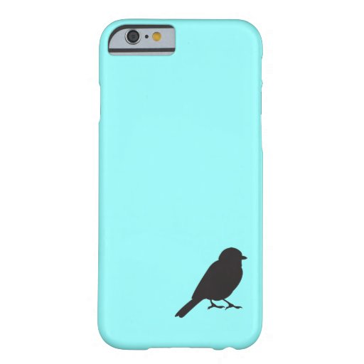 Sparrow silhouette chic blue swallow bird iPhone 6 case