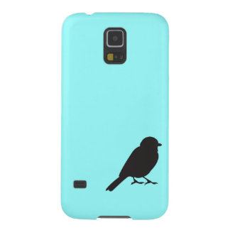 Sparrow silhouette chic blue swallow bird galaxy s5 cover