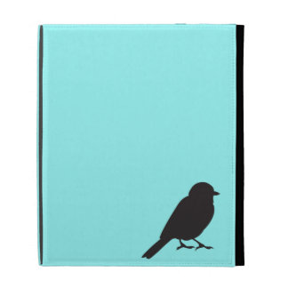 Sparrow silhouette chic blue swallow bird iPad folio case