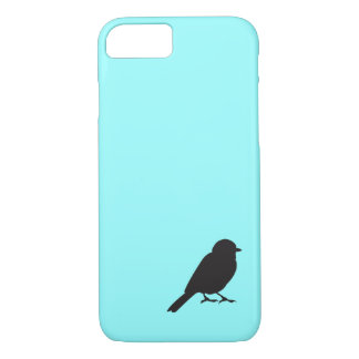 Sparrow silhouette chic blue swallow bird iPhone 7 case
