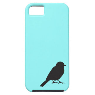 Sparrow silhouette chic blue swallow bird tough iPhone 5 case
