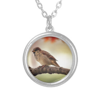 sparrow silver plated necklace