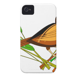 Sparrow Sitting On Branch Case-Mate iPhone 4 Cases