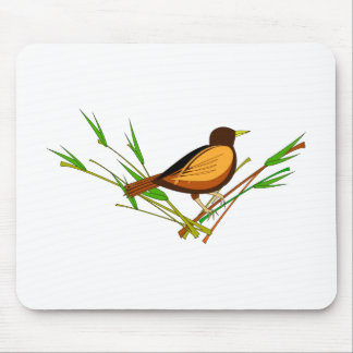 Sparrow Sitting On Branch Mouse Pad
