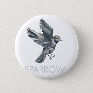 Sparrow Text Low Polygon 6 Cm Round Badge