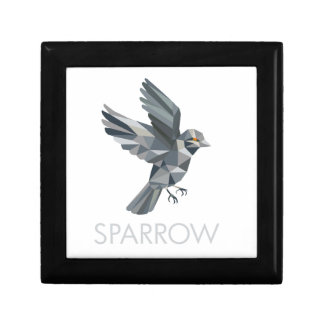 Sparrow Text Low Polygon Gift Box