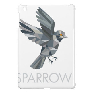 Sparrow Text Low Polygon iPad Mini Cover