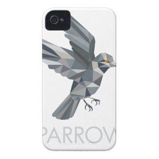 Sparrow Text Low Polygon iPhone 4 Case