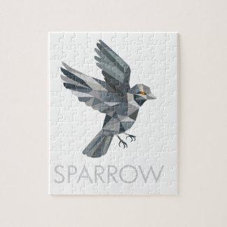 Sparrow Text Low Polygon Jigsaw Puzzle