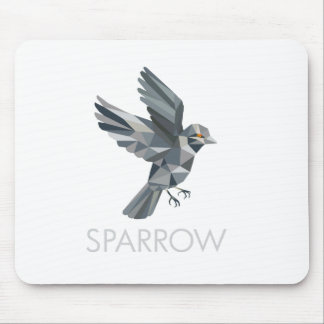 Sparrow Text Low Polygon Mouse Pad