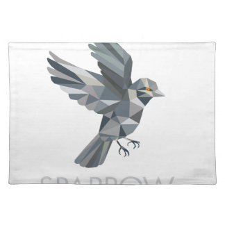 Sparrow Text Low Polygon Placemat