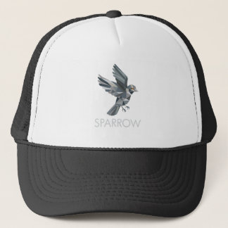 Sparrow Text Low Polygon Trucker Hat