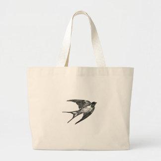 sparrow jumbo tote bag