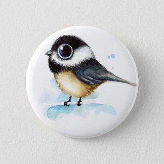 Sparrow watercolor 6 cm round badge