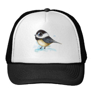 Sparrow watercolor cap