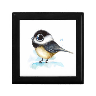 Sparrow watercolor gift box