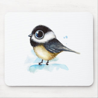 Sparrow watercolor mouse pad