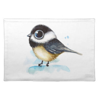 Sparrow watercolor placemat