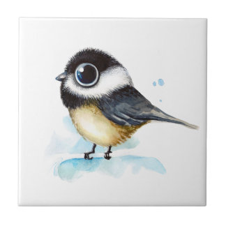 Sparrow watercolor tile