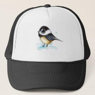 Sparrow watercolor trucker hat