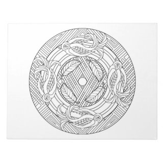Sparrows Mandala Coloring Book Pad