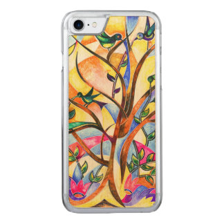 Sparrows Tree Carved iPhone 7 Case